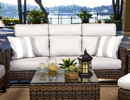 ... And Lounge In Many Sizes And Styles. All Largo West Wicker Furniture  Consists Of A Removable Seat Frame With Your Choice Of Over 180 SUNBRELLA  Fabrics.