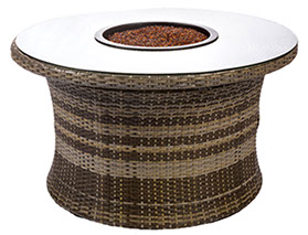 A 42 inch Bali round fire table by Paradise Home & Patio