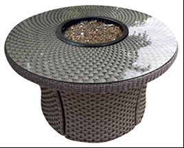 A 42 inch round Bali round java fire table