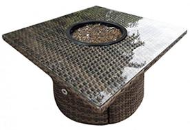 A 42-inch square Bali square java fire table