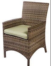 A Bali armed dining chair in willow  by Paradise Home & Patio