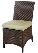 A Bali armless dining chair in Java by Paradise Home & Patio