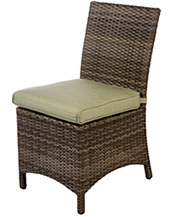 A Bali armless dining chair in willow by Paradise Home & Patio
