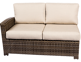 Bali armless middle in willow by Paradise Home & Patio