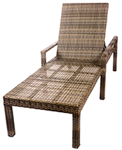 Bali chaise lounge in willow