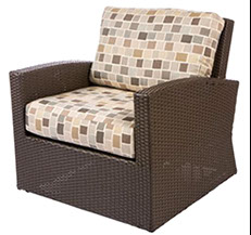 A Bali club chair in Java by Paradise Home & Patio