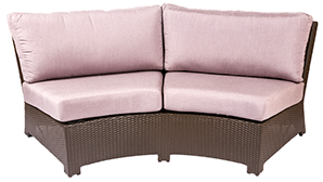 Bali curved sofa in java by Paradise Home & Patio