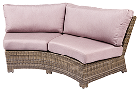 Bali curved sofa in willow by Paradise Home & Patio