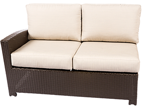 Bali left loveseat in java by Paradise Home & Patio