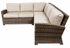 Bali sectional in willow by Paradise Home& Patio