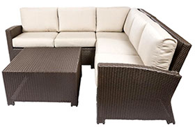 Bali sofa sectional in Java by Paradise Home & Patio