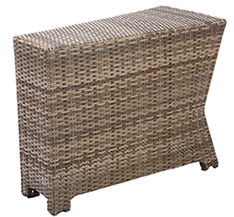 Bali wedge end table in willow
