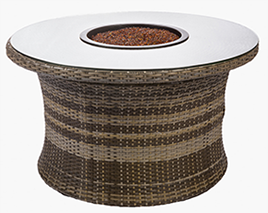 Bali willow fire table by Paradise Home & Patio
