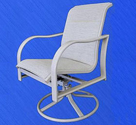 Nevis swivel dining chair