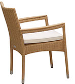 Honey-colored Helena stacking chair