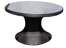 A 48-inch black Helena table