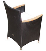 A black Helena weave chair