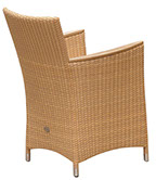 A honey-colored Helena weave chair