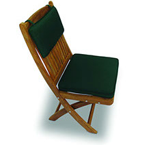 A green-colored royal teak multi cushion by Paradise Home & Patio