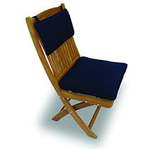 A navy blue colored royal teak multi cushion by Paradise Home & Patio