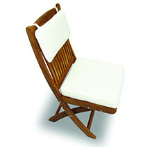 An off-white colored royal teak multi cushion by Paradise Home & Patio