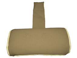 A bronze-colored neck roll cushion by Paradise Home & Patio