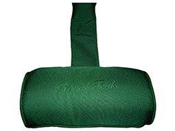 A green-colored neck roll cushion by Paradise Home & Patio