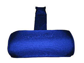 A navy blue colored neck roll cushion by Paradise Home & Patio