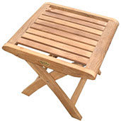 A royal teak footrest by Paradise Home & Patio