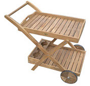 A royal teak tray cart by Paradise Home & Patio
